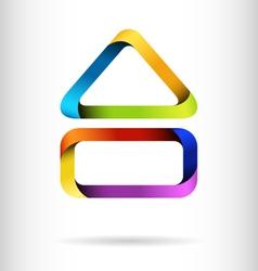 Rainbow building design concept vector image vector image