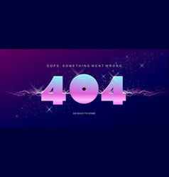 404 banner page template with banner error vector image