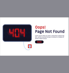 404 error page not found website template vector