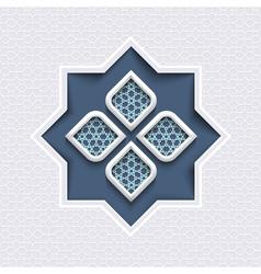 Abstract 3d islamic design geometric ornament vector