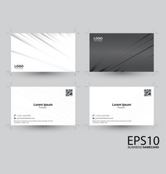 abstract gradient gray color namecard pattern vector image