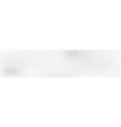 Abstract white waves and lines web header banner vector