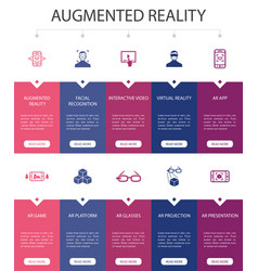 Augmented reality infographic 10 option ui design vector