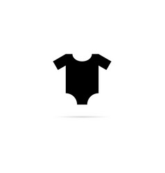 baclothing icon with shadow and with heart vector image