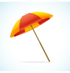 Beach Umbrella Red Yellow vector image
