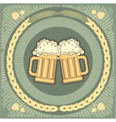 beer jug vector image