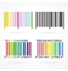 Black and colored barcode vector