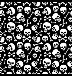 bones and skulls seamless pattern for fashion vector image