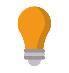 Bulb idea creative icon vector