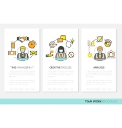 Business Team Work Brochure Template vector image