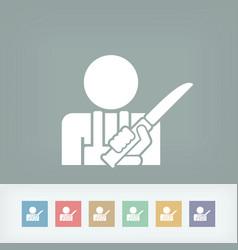 butcher icon vector image