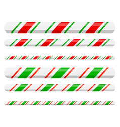 Candy cane line border divider for christmas vector