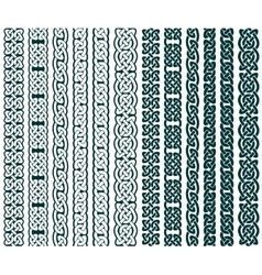Celtic Patterns Collection vector image