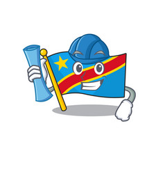 Cheerful architect flag democratic republic vector