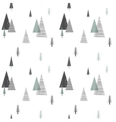 Christmas winter forest landscape seamless vector
