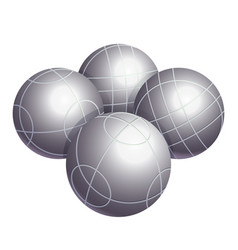colorless bocce balls made metal or plastic vector image