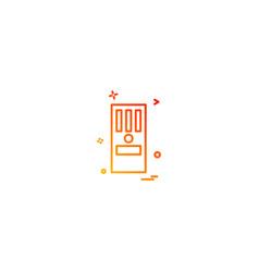 cpu icon design vector image