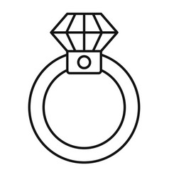 diamond ring icon outline style vector image