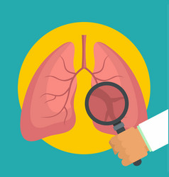 Examination lungs icon flat style vector