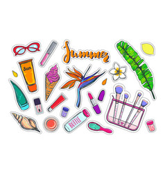 fashion stickers patches pins 2 vector image