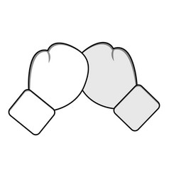 Figure boxing play and gloves icon vector