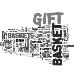 Gift basket heaven text background word cloud vector