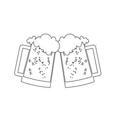 glass beer vector image