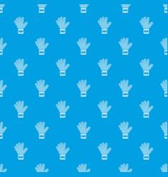 goalkeeper glove pattern seamless blue vector image