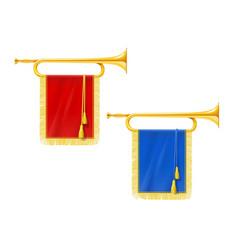Golden royal horn trumpet vector