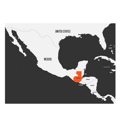 Guatemala orange marked in political map of vector