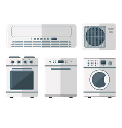 Home appliances domestic household vector