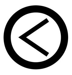 Kenaz rune kanu symbol ulcer torch icon black vector