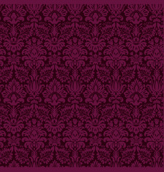 luxury ornamental background purple damask floral vector image