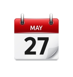 May 27 flat daily calendar icon date vector