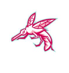 Mosquito mascot vector