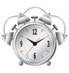 Old mechanical alarm clock vector image