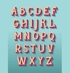 Original retro font alphabet vector