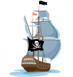 pirate ship vector image vector image