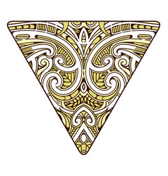 Polynesian style design vector