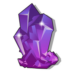 purple natural precious crystals isolated on vector image