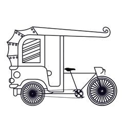 Rickshaw india isolated icon design vector