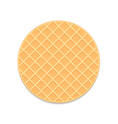 Round waffle vector