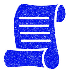 Script roll grunge icon vector