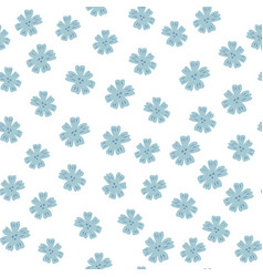 Seamless pattern with blue chamomile flowers vector