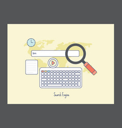 Search engine icon vector