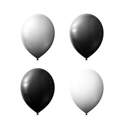 Set realistic color air balloons isolated on white vector image