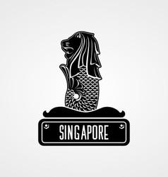 Singapore Merelion vector