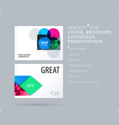 Smooth design presentation template with colourful vector