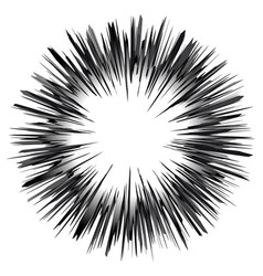 speed lines sphere graphic explosion design vector image
