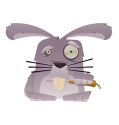 strange rabbit vector image